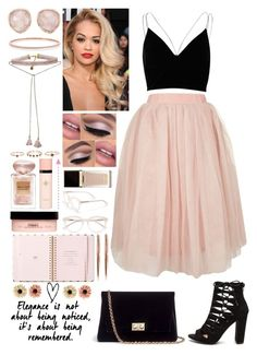 """//Cute in pink//"" by kokoxx on Polyvore featuring Topshop, River Island, Rodo, Monica Vinader, Johnny Loves Rosie, Giorgio Armani, The Body Shop, Yves Saint Laurent, Tom Ford and Derek Lam"