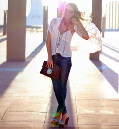I love this style.  Casual yet stunning