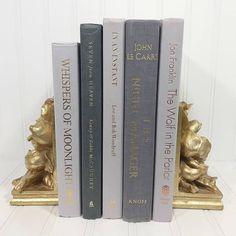 Gray Decorative Book Set. Shelf decor Mantel Decor Shelf decorating mantel decorating. Buy On Etsy Now