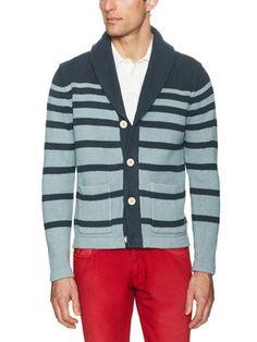 Graided Stripe Cotton Cardigan