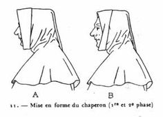 A detailed discussion of French men's and women's hoods and chaperons, with an attempt to recreate the hood of Joan of Arc. Lots of hood and chaperon patterns. (French-language link.) [Rozier Wars 1461-1483]