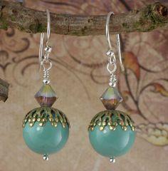 Vintage Style Swarovski Jade Pearl and Crystal by ArtisanBohemian, £13.99