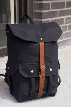 Small Black Backpack by FRWLBP on Etsy Black Backpack, Baggage, Backpacks, Backpack  Bags 269227661e