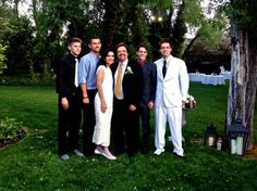 Jay & Karen's wedding day with her sons and 2 of his.