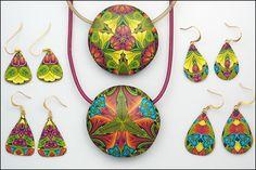 pendants with soft glass cord - Carol Simmons Designs