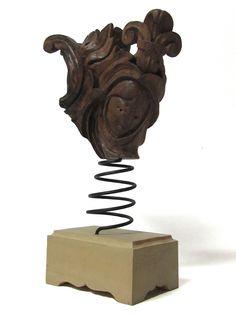 Sole Luna (Sun-Moon), Enrica Barozzi's modern art, wood sculptures in Florence, Italy.