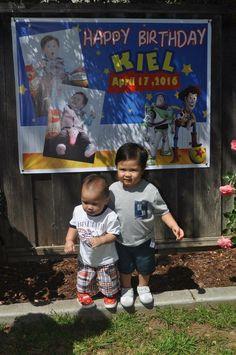 Kiel with his baby brother Elijah