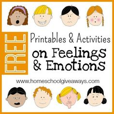 FREE Printables and Activities on Feelings and Emotions.  Sometimes emotions can be really overwhelming for little ones to understand and sometimes you can have kids that are overly emotional, and need help getting themselves in check. That's where using