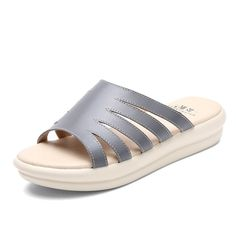 Flat-bottom womens leather slippers/Roman sandals and leisure ** You can find out more details at the link of the image.