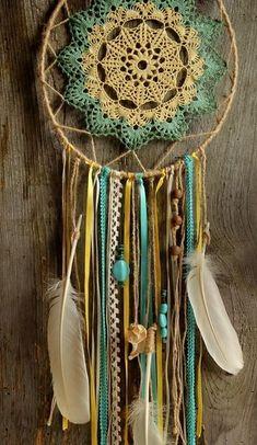 atrapasuenos-mandalas-crochet decoracion-s . Crochet Decoration, Crochet Home Decor, Crochet Crafts, Crochet Doilies, Crochet Projects, Mandala Crochet, Doily Dream Catchers, Dream Catcher Craft, Dream Catcher Boho