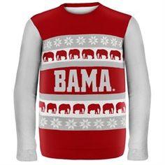 Alabama Crimson Crimson/Gray Tide Wordmark Ugly Sweater