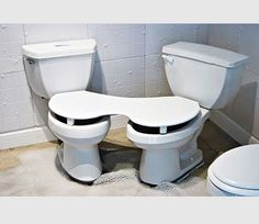 Too much togetherness in the bathroom? #FischerPlumbing