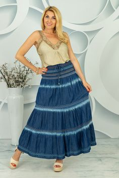 Jeansowa spódnica Artemisa Artemis, Spring Collection, Tie Dye Skirt, Midi Skirt, Skirts, Fashion, Tunic, Moda, Skirt