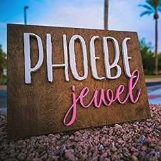 Rectangle Wood Sign Personalized Nursery Name Sign Baby Shower Gift Wall Art Personalized Sign Established Sign Wooden Signs Nursery Name, Nursery Signs, Nursery Room Decor, Wooden Letters, Wooden Signs, Local Coupons, Baby Changing Station, Baby Rocker, Established Sign