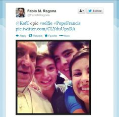 Pope Francis jumped in for this selfie with some Italian pilgrims 'Selfie' is the international word of the year, so here are our selfies of the year