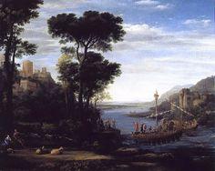 Lorrain, Paysage avec l'arrivée d'Énée devant la ville de Pallanteum