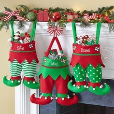 Jingle Bell Elf Pants Stocking   Personal Creations