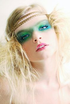sparkling green makeup    Recreate this look with Vegan Faces Tropical, Blueberry and Forest Eyeshadows.