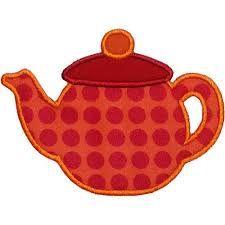 Resultado de imagem para Applique Teapot Pattern