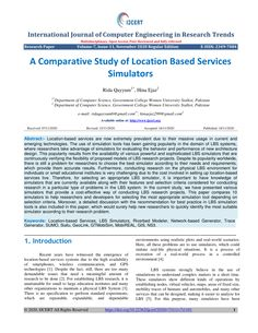 PDF | Location-based services are now extremely prevalent due to their massive usage in current and emerging technologies. The use of simulation tools... | Find, read and cite all the research you need on ResearchGate Computer Engineering, Computer Science, Location Based Service, Research Publications, Research Centre, Cloud Computing, Research Paper, Big Data, Pdf