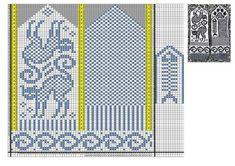 "Photo from album ""Pirstines"" on Yandex. Mittens Pattern, Knit Mittens, Mitten Gloves, Knitting Socks, Knitting Basics, Knitting Charts, Knitting Patterns, Crochet Cross, Knit Crochet"
