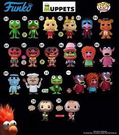 Funko Pop Dolls, Funko Toys, Funk Pop, Cool Avatars, Pop Toys, Pop Collection, Jim Henson, Pop Figures, Disney Merchandise