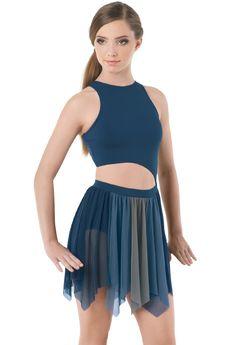 Two Tone Handkerchief Hem Dance Dress | Balera™