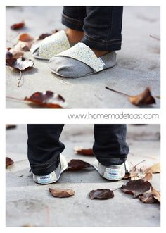 Family slippers for winter?  Could even make a pair of commuter shoes for slipping on and off in day care.