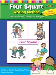 Four Square: Writing Method Early Learner by Judy Gould and Mary Burke-- teach writing skills using the innovative new approach, Four Square, that has been proven to work in classrooms just like yours! Kindergarten Language Arts, Classroom Language, Kindergarten Writing, Teaching Writing, Literacy, Teaching Ideas, Writing Strategies, Writing Skills, Writing Ideas