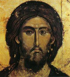 Christ Pantocrator (détail), fin du XIIIe siècle, Monastère de Hilandar, Mont Athos, Grèce