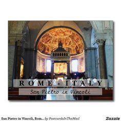 San Pietro in Vincoli, Rome, Italy Postcard