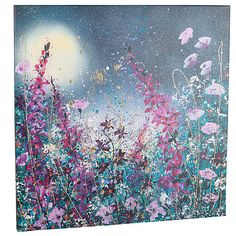 Buy Jane Morgan - Magic in the Moonlight Embellished Canvas Print, 80 x 80cm Online at johnlewis.com