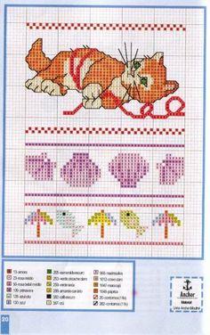 Schema punto croce Gattino 3