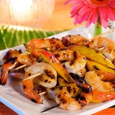 Tequila Grilled Shrimp and Mango Skewers ~ Made this for a Fiesta Party and it got RAVE reviews.  Will make again.