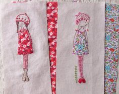 lavender girl embroidery pattern PDF