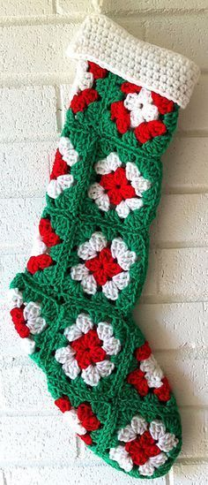 New Ideas Crochet Christmas Stocking Pattern Free Mom Crochet Christmas Stocking Pattern, Crochet Stocking, Crochet Christmas Gifts, Holiday Crochet, Christmas Patterns, Diy Christmas, Christmas Presents, Christmas Ornaments, Motifs Granny Square