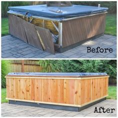 How to repair an aging and/or damaged hot tub wrap. | Projects ...