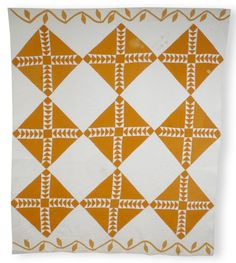 Wild Goose Chase quilt Old Quilts, Antique Quilts, Vintage Quilts, Orange Quilt, Yellow Quilts, White Quilts, Art Pass, Flying Geese Quilt, Two Color Quilts