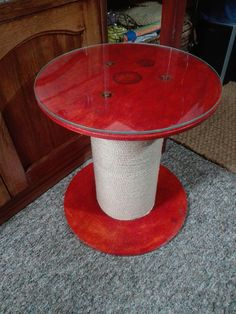 Wooden spool mini table