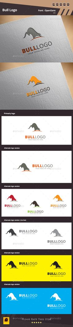 Bull Logo Template — Photoshop PSD #collection #cool • Available here → graphicriver.net/...