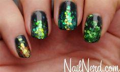 Glitter Storm Nails