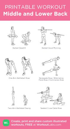 Middle and Lower Back: my custom printable workout by … – Fitness&Health&Gym For Women Middle and Lower Back: my custom printable workout by . Middle and Lower Back: my custom printable workout by Back And Bicep Workout, Back And Shoulder Workout, Gym Workout Plan For Women, Back And Biceps, Barbell Workout For Women, Shoulder Workout Women, Arm Day Workout, Chest Workout Women, Tuesday Workout