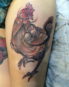 Chicken tattoo