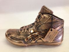 Bronzed Wrestling shoe for a special coach or wrestler. www.bronzery.com
