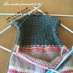 tuto_chaussette9 Crochet Hooks, Free Crochet, Knit Crochet, Knitting Socks, Knitted Hats, Needlework, Crochet Patterns, Couture, Embroidery