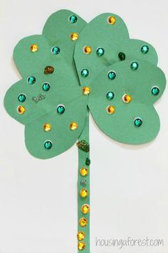 Heart Shamrock Craft ~ St Patricks Day Activity