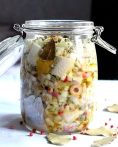 Polish Christmas herring by codojedzenia Fish Dishes, Seafood Dishes, Seafood Recipes, Cooking Recipes, Appetizer Salads, Appetizer Recipes, Appetizers, Mason Jar Meals, Christmas Dishes