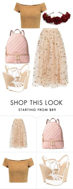 """""""Untitled #965"""" by maria-cmxiv on Polyvore featuring Valentino, MICHAEL Michael Kors, Alice + Olivia and Jessica Simpson"""