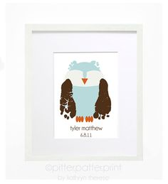 Owl Nursery Decor  Woodland Nursery  by PitterPatterPrint on Etsy, $35.00