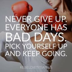 Pick yourself up and keep going